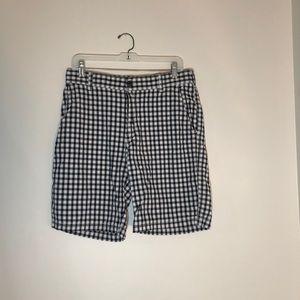 Navy Checkered Shorts from Izod (32)